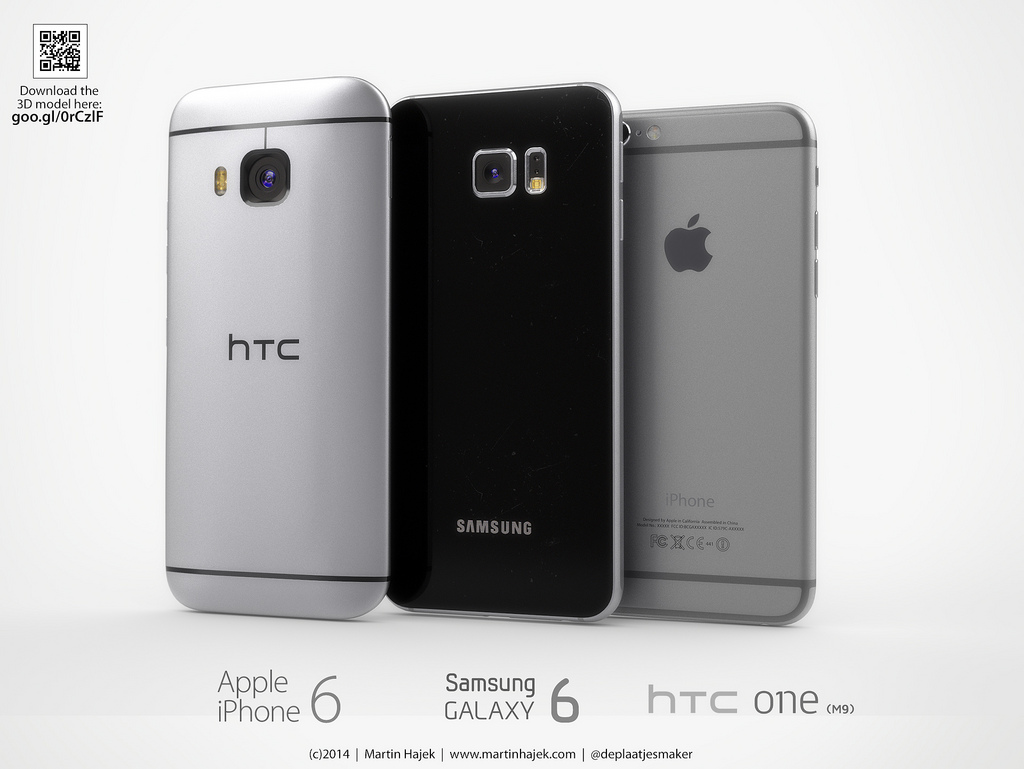 iPhone 6 Samsung Galaxy S6 HTC One M9 concept 3
