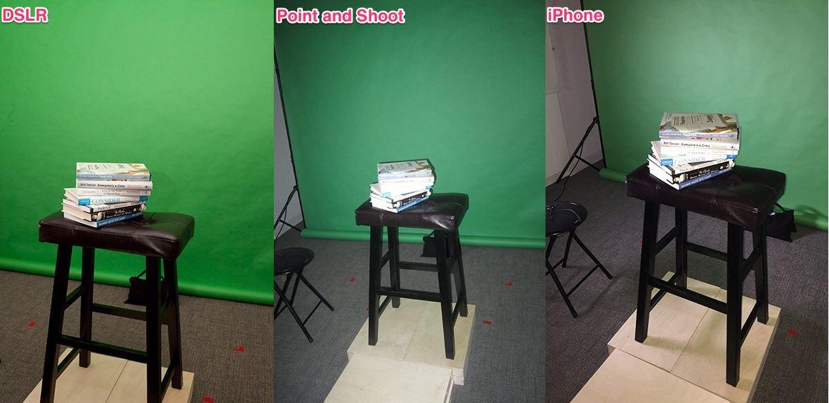 iPhone 6 vs dslr camera compacta 1