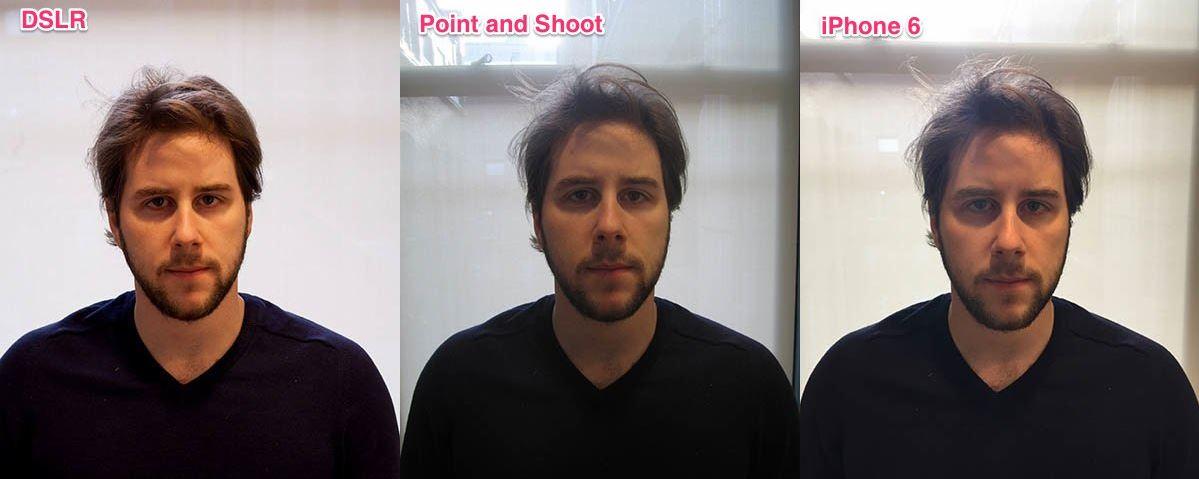 iPhone 6 vs dslr camera compacta