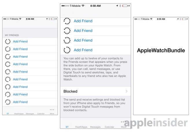interfata aplicatie Apple Watch 1