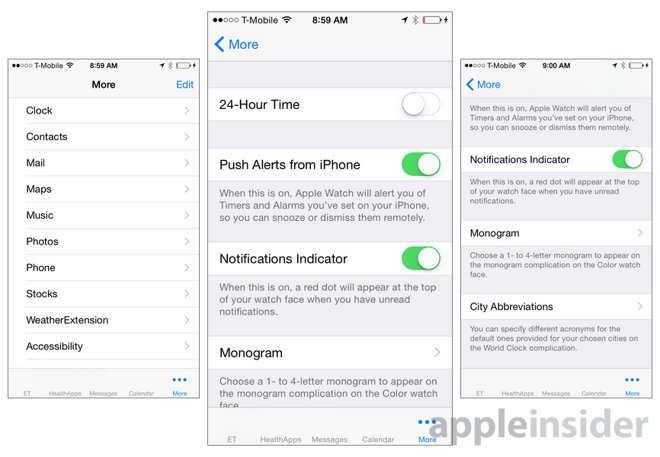 interfata aplicatie Apple Watch 5