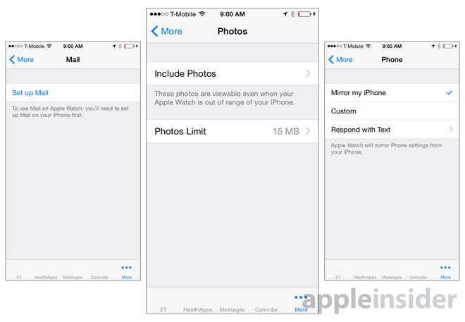 interfata aplicatie Apple Watch 6
