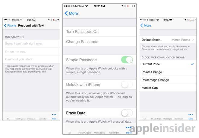 interfata aplicatie Apple Watch 7