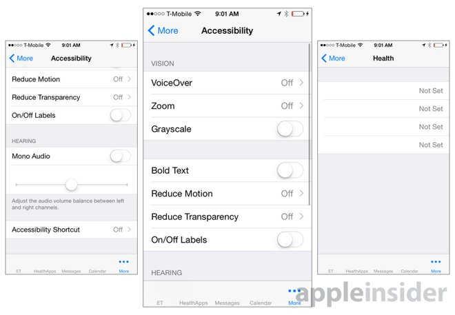 interfata aplicatie Apple Watch 8