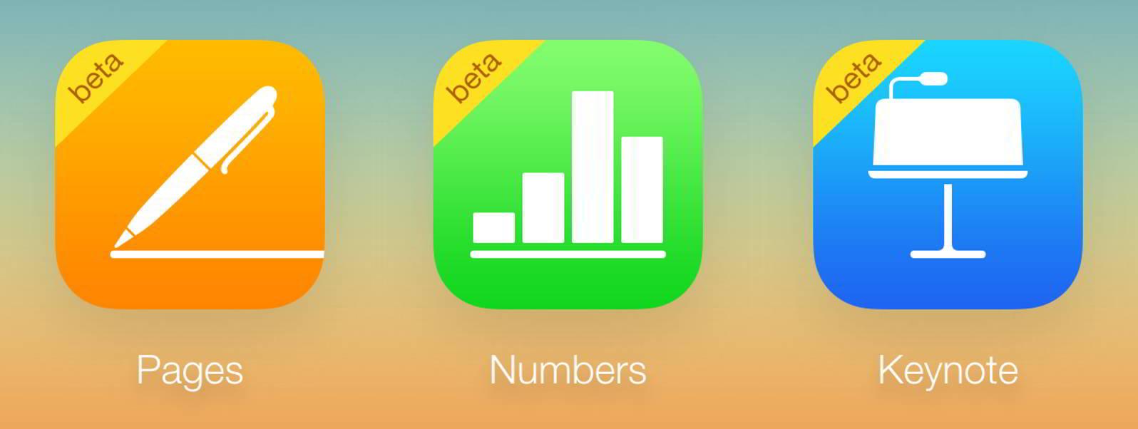 Pages, Numbers, Keynote gratuit