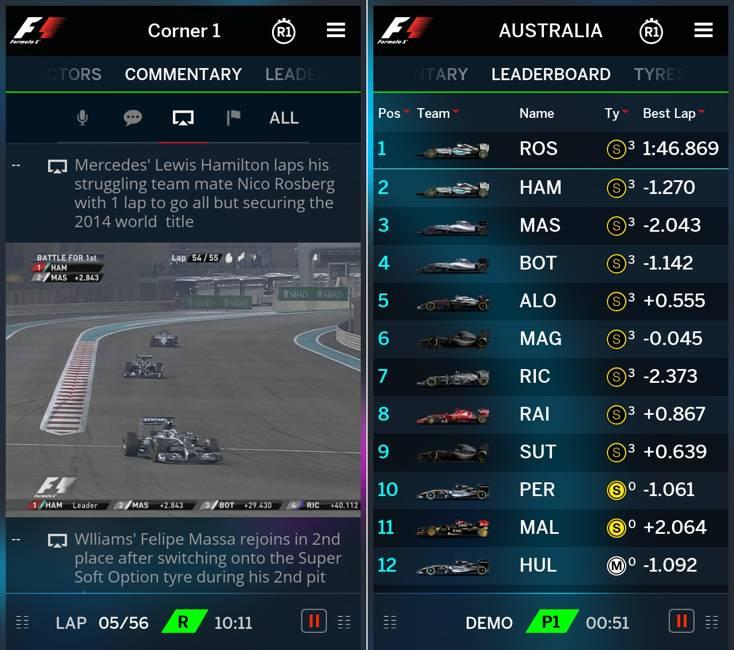 Aplicatie oficiala Formula 1