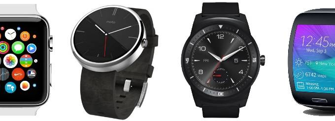 Apple Watch vs Moto 360 vs LG G Watch R vs Samsung Gear S specificatii 1