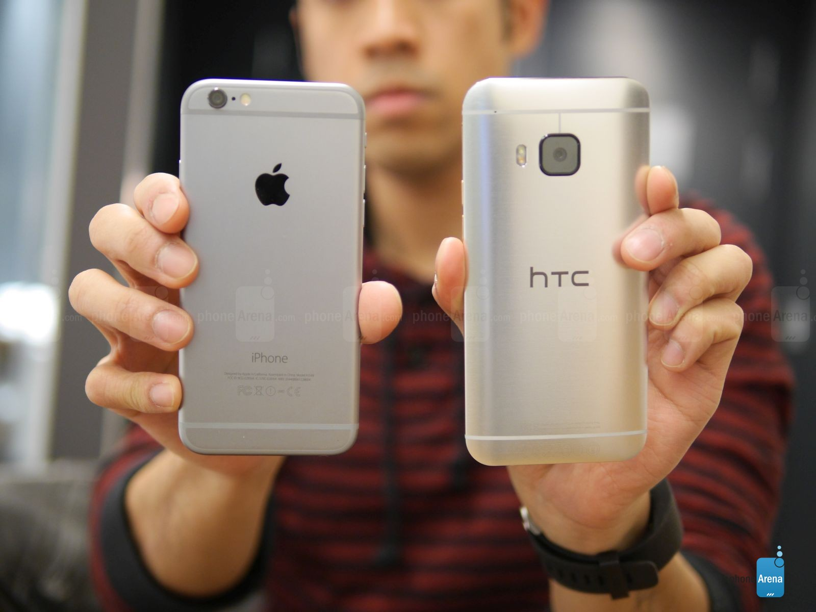 HTC ONE M9 IPHONE 6 comparatie 2
