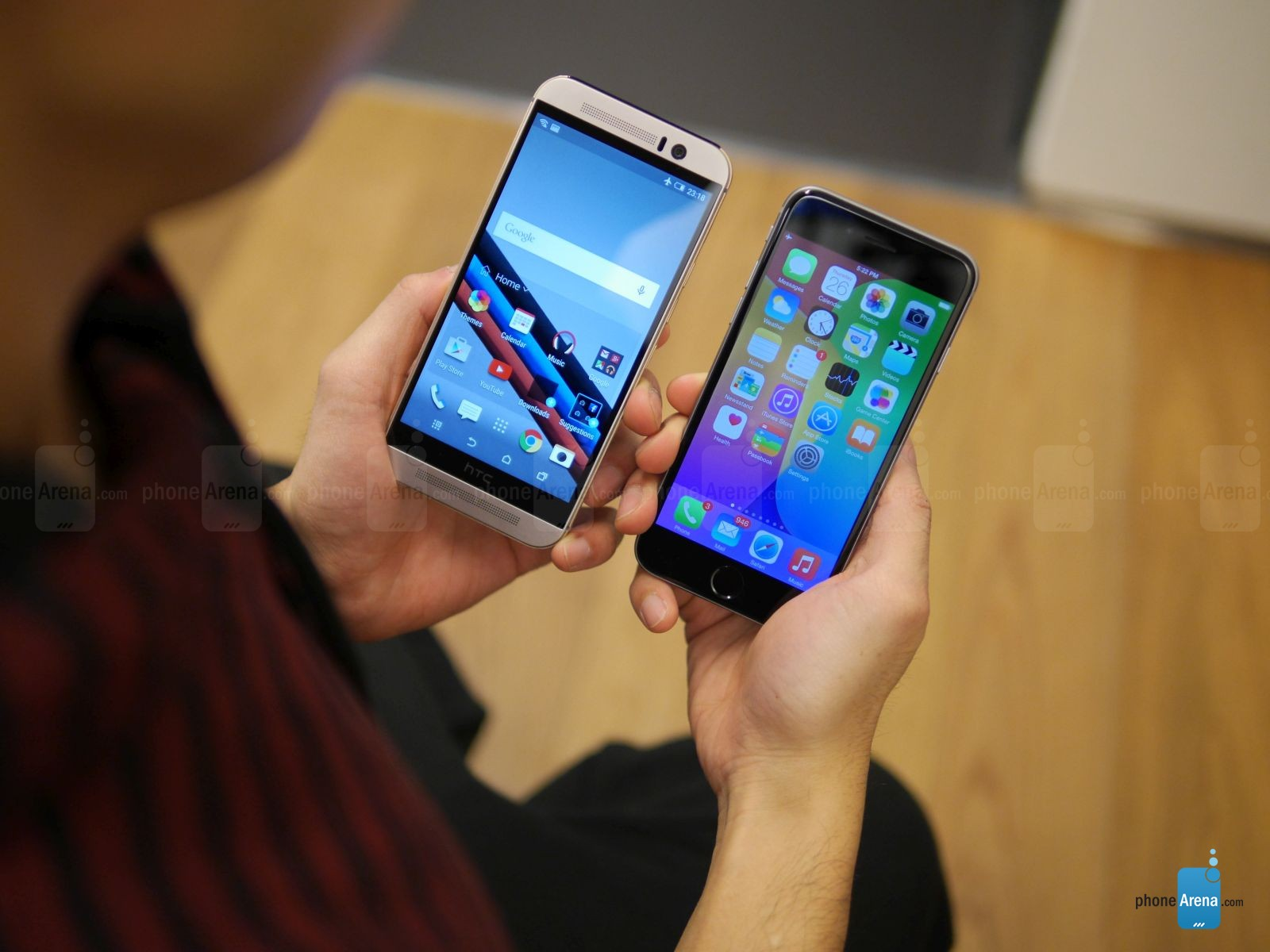 HTC ONE M9 IPHONE 6 comparatie 3