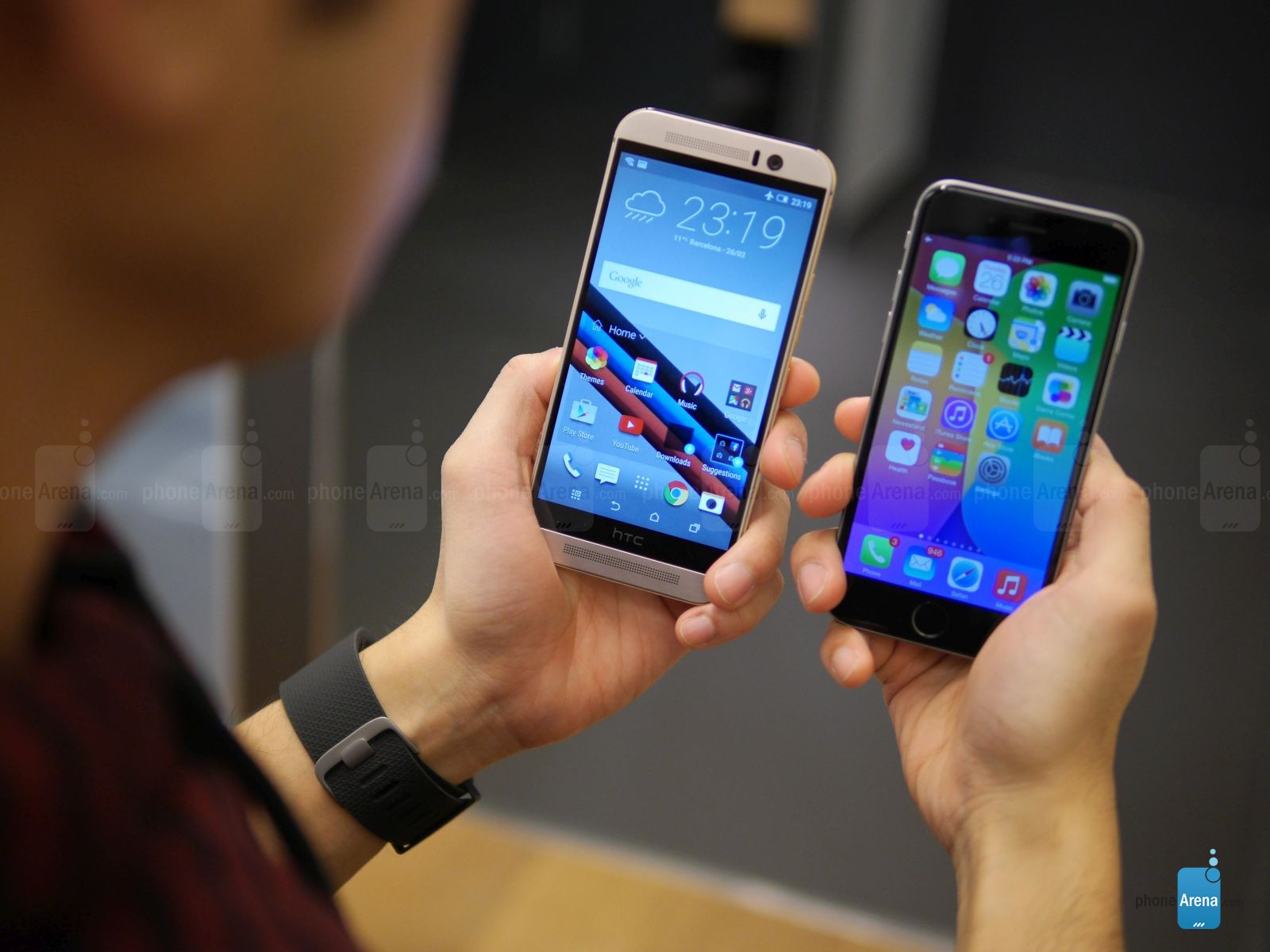 HTC ONE M9 IPHONE 6 comparatie 5