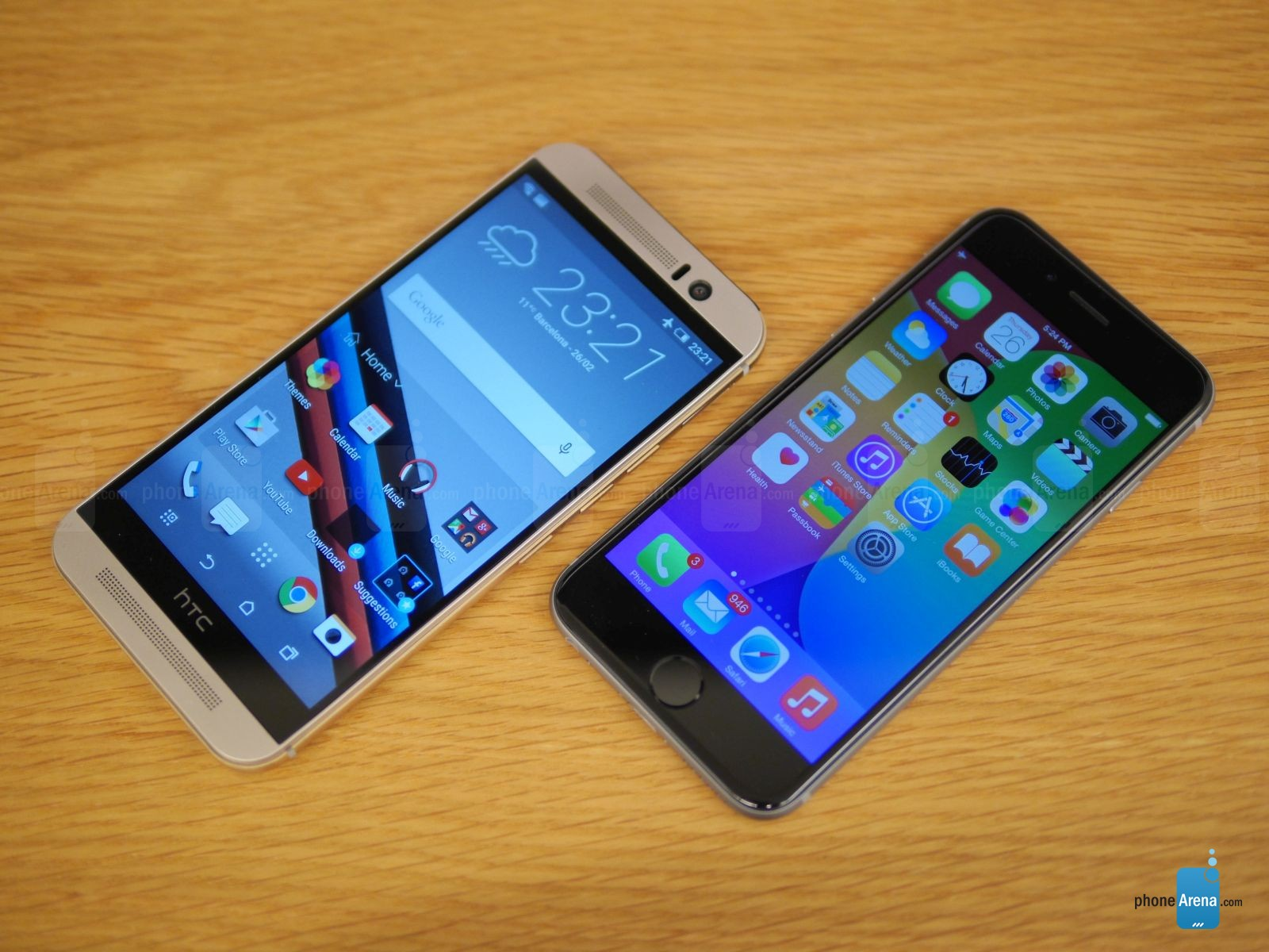 HTC ONE M9 IPHONE 6 comparatie 6