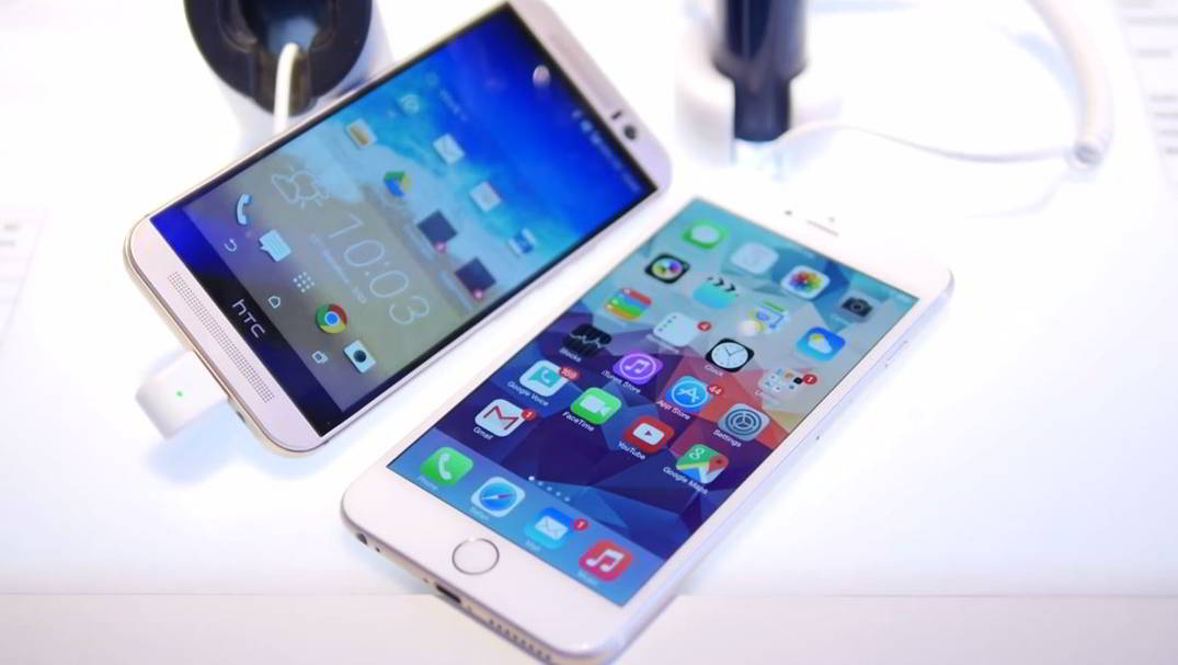 HTC ONE M9 vs iPhone 6 Plus comparatie detaliata