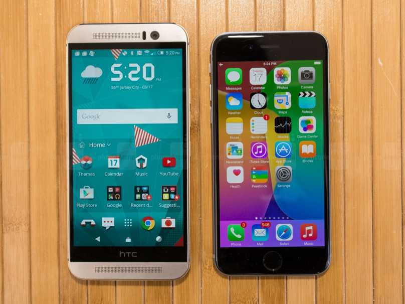 HTC ONE M9 vs iPhone 6 - comparatie detaliata