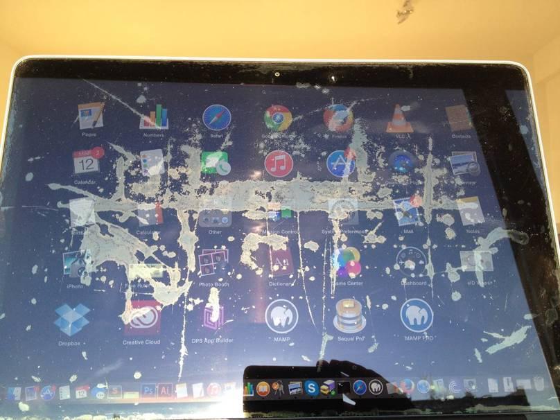 MacBook ecran anti-reflexie
