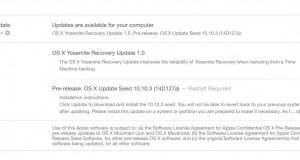 OS X Yosemite 10.10.3 beta