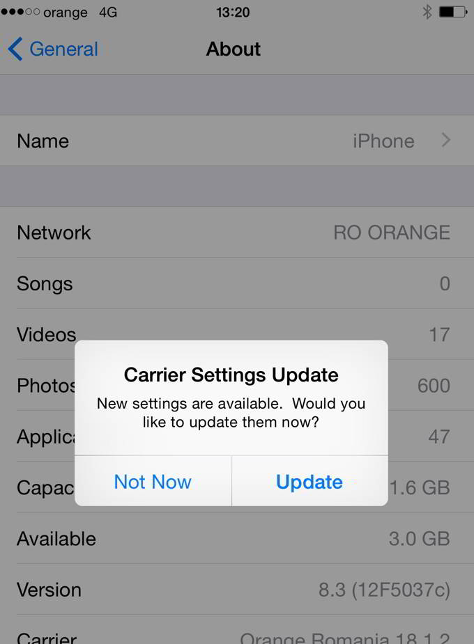 Orange Romania 18.2 Carrier Bundle Update