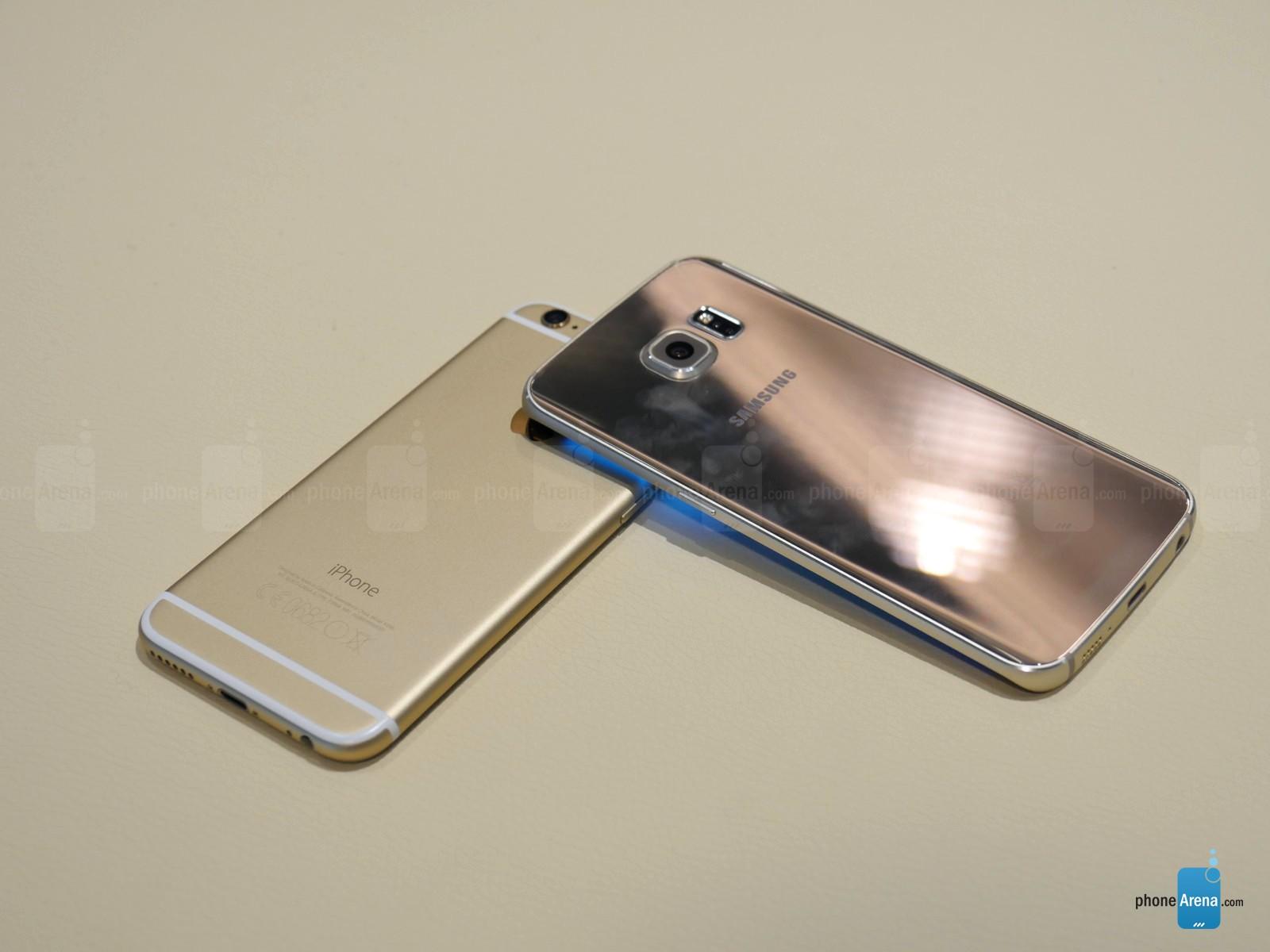 Samsung Galaxy S6 Edge vs iPhone 6 comparatie design 2