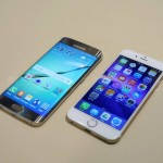 Samsung Galaxy S6 Edge vs iPhone 6 comparatie design feat