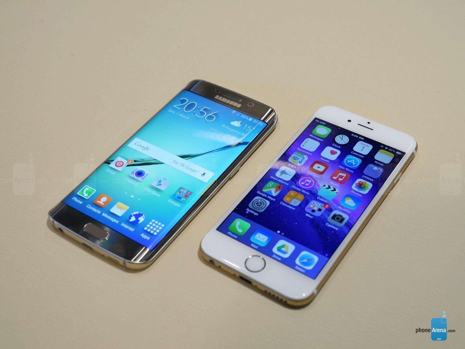 Samsung Galaxy S6 Edge vs iPhone 6 comparatie design