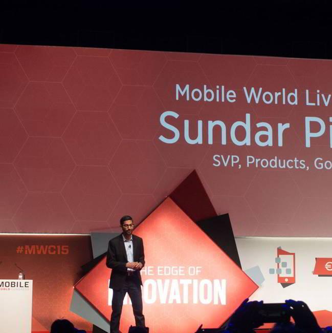 Sundar Pichai Mobile World Congress 2015