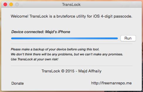 TransLock sparge cod de siguranta iPhone iPad