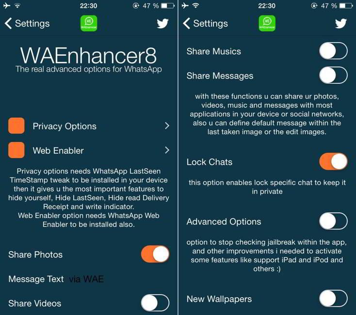 WAEnhancer8 WhatsApp Messenger
