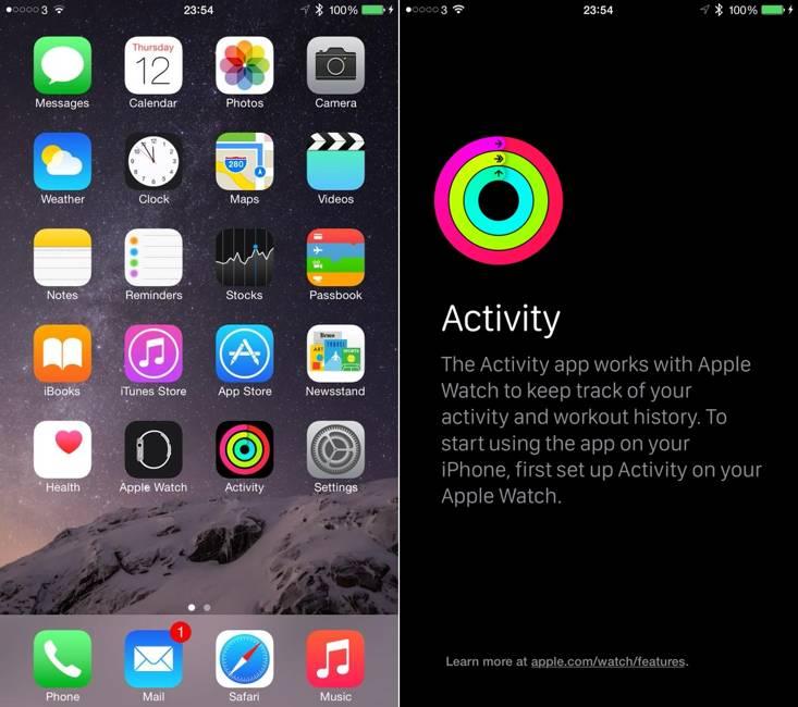 iOS 8.2 Watch Activity