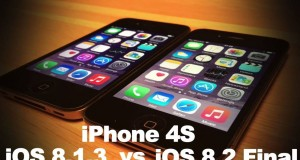 iOS 8.2 vs iOS 8.1.3 pe iPhone 4S