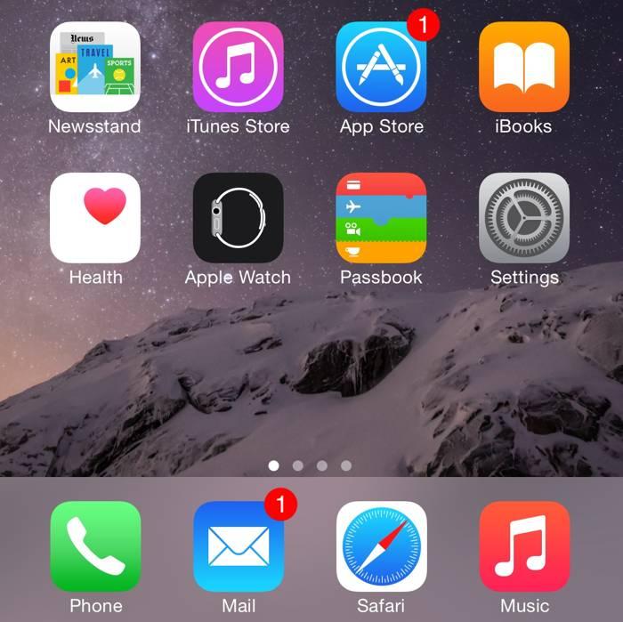 iOS 8.3 aplicatie Watch