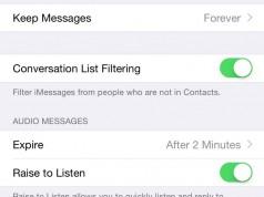 iOS 8.3 filtrare mesaje