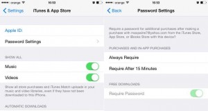 iOS 8.3 instalare aplicatii fara parola