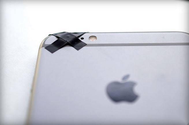 iPhone camera blocata cu banda 1