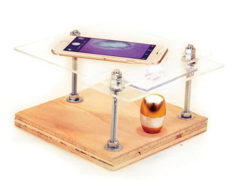 iPhone microscop