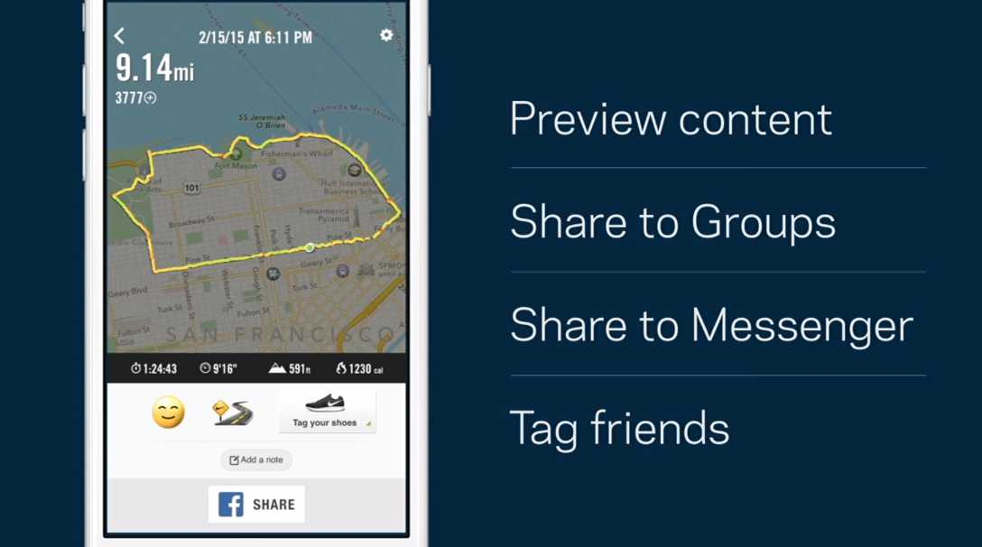 partajare continut facebook messenger