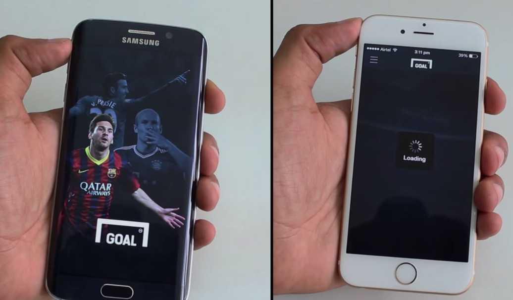 samsung galaxy s6 vs iphone 6 viteza