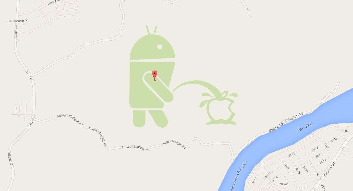 Android urineaza pe Apple