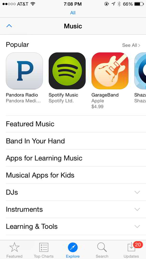 App Store Explore
