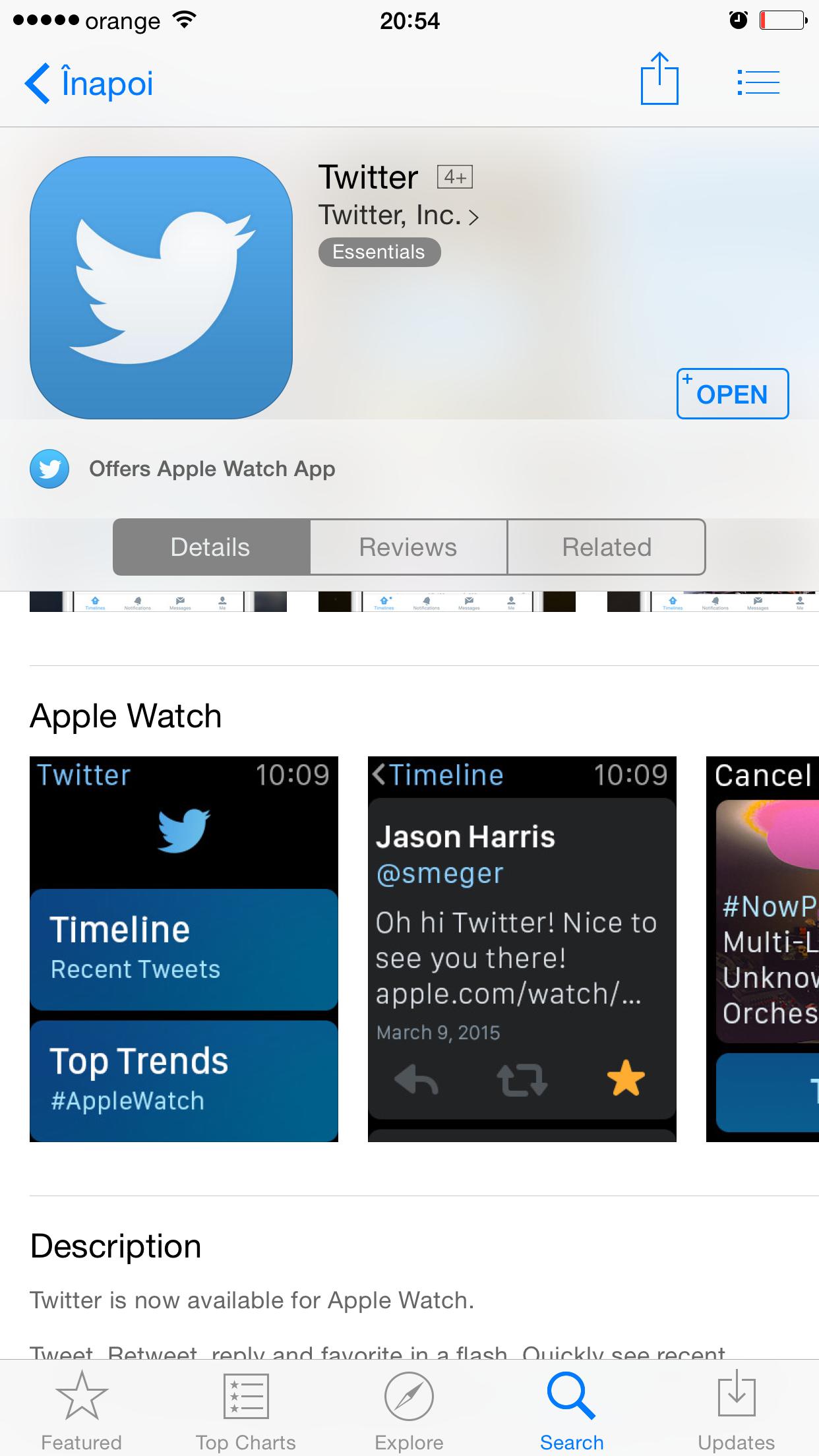 App Store compatibilitate aplicatii Apple Watch 1
