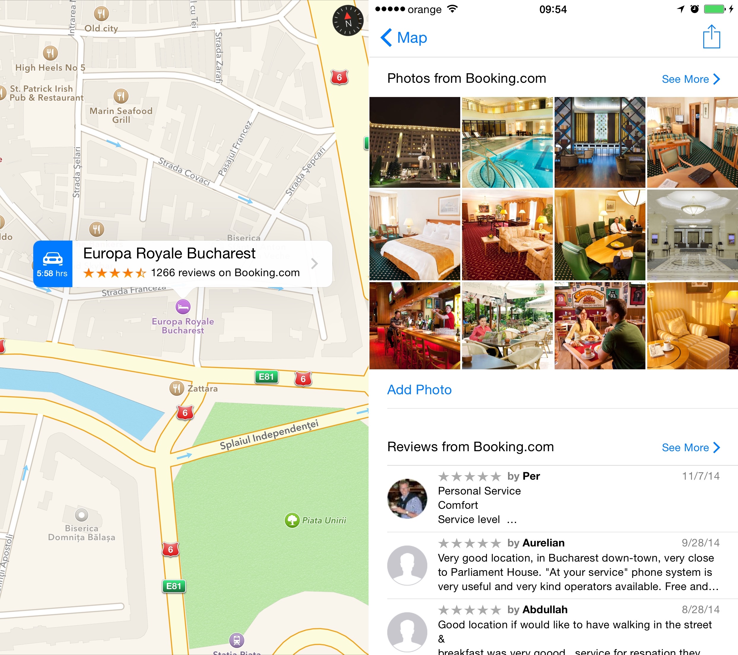 Apple Maps Romania harti actualizate review hotel