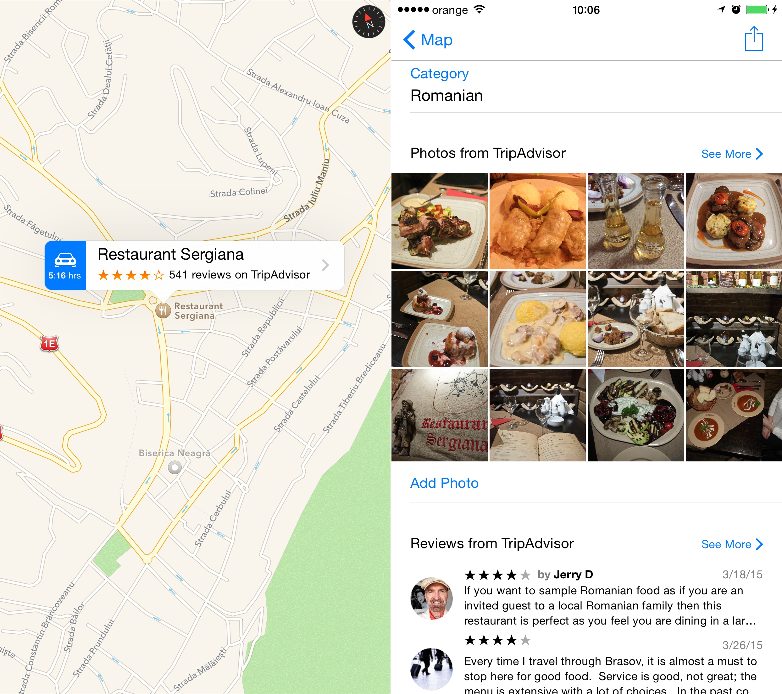 Apple Maps Romania harti actualizate review restaurante