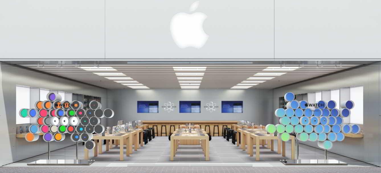 Apple Store fatada Apple Watch