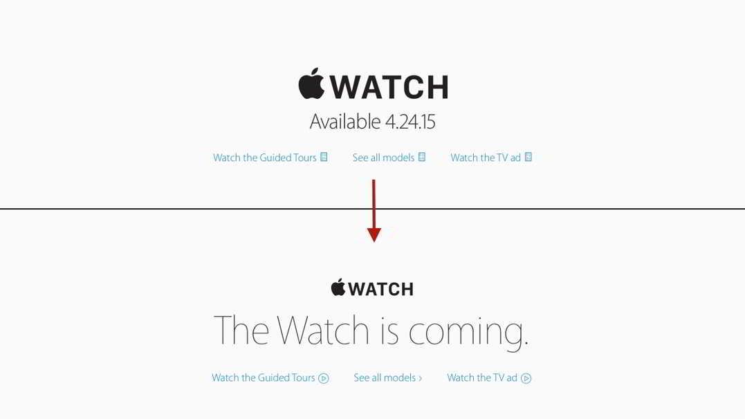Apple Watch data lansare