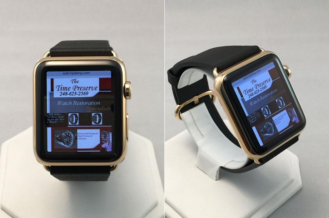 Apple Watch placat cu aur