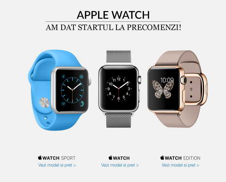 Apple Watch precomanda Romania pret
