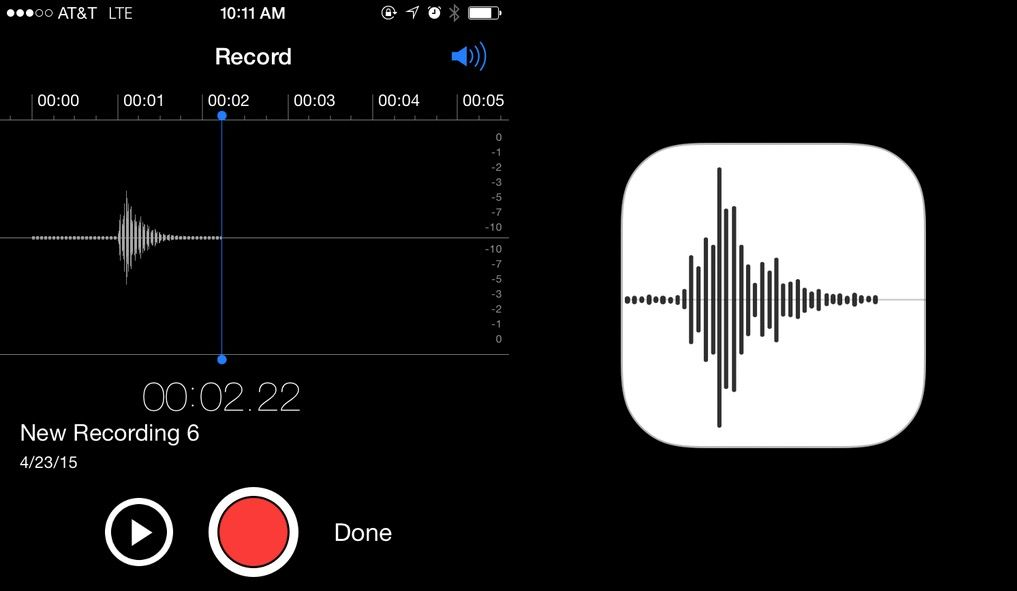 Apple voice memo
