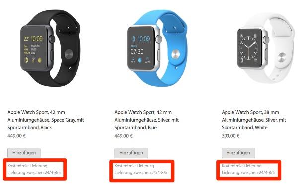 Apple watch asteptare