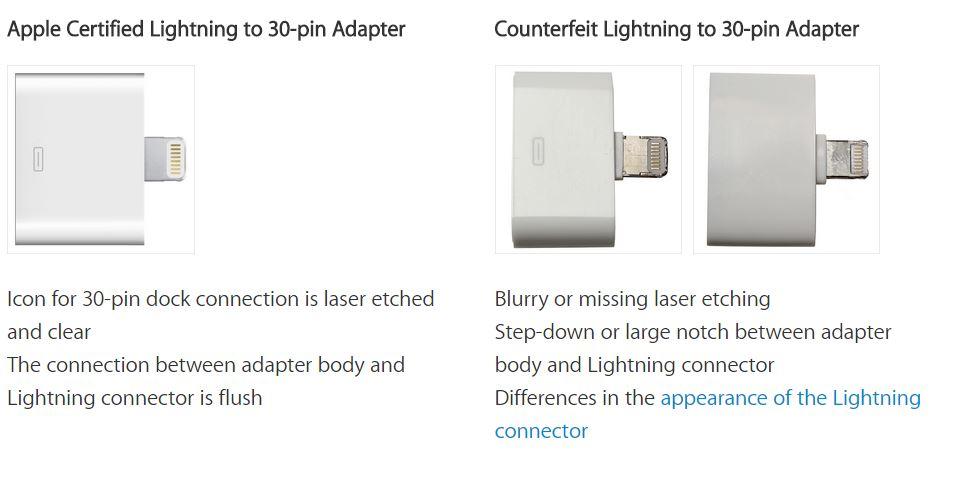 Cum deosebesc un cablu Lightning adevarat de unul fals 5