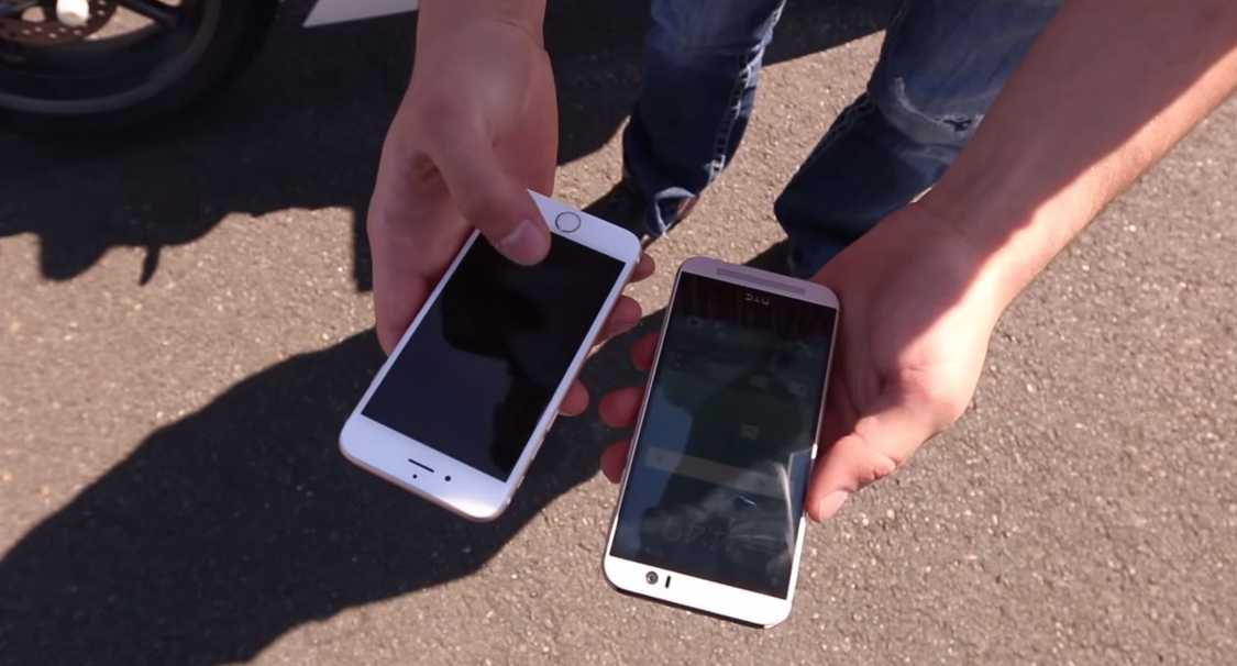 HTC ONE M9 iPhone 6 test rezistenta