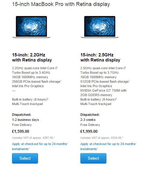 MacBook Pro 15 inch actualizare