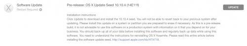 OS X 10.10.4 beta build